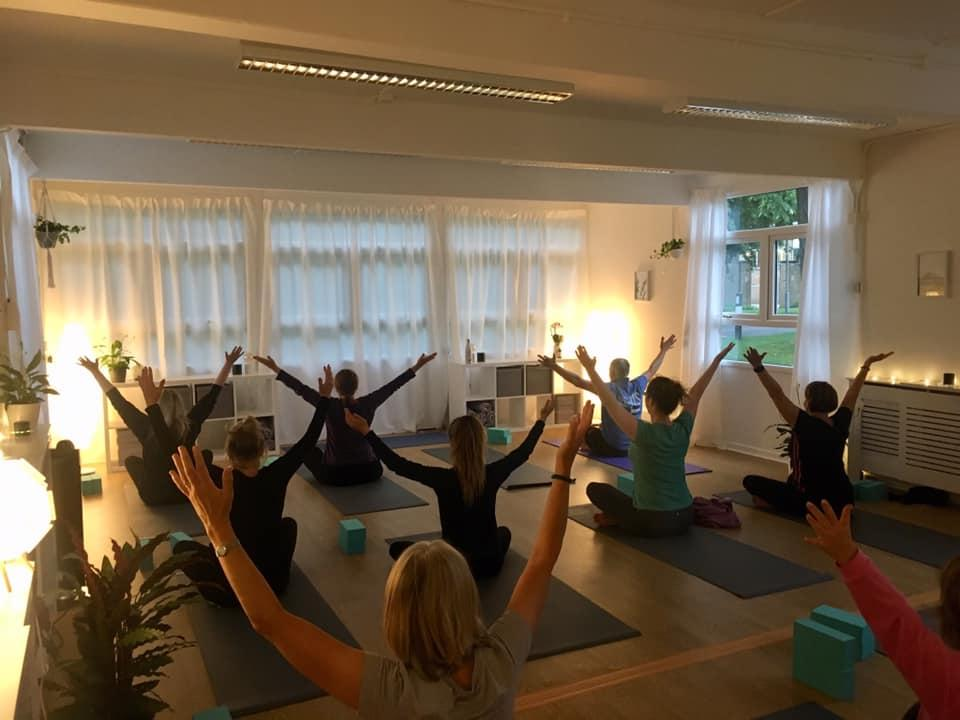 Yoga class at G&G